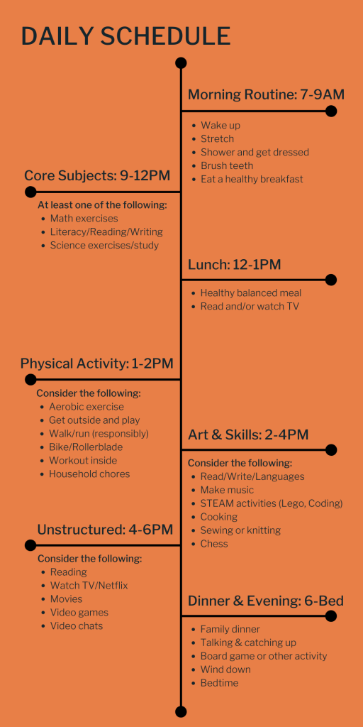 at-home education schedule